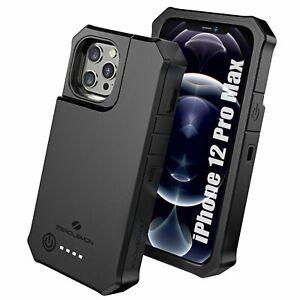 iPhone 12 Pro Max Battery Case 10000mAh. Wireless Charging & Lightning
