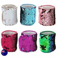 Mermaid Scale Sequins Sequined Dance Party Costume Wrist Bracelet hair band cuff