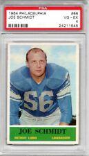 1964 Philadelphia Joe Schmidt #66 PSA 4 Detroit Lions