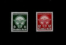 GERMANY Third Reich Swastika Mi 689-690 Young Workers Competition SWASTIKA STAMP