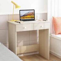 2 Drawer Dressing Table Wooden Vanity Computer Desk Bedroom Furniture Office UK