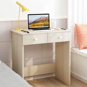 2 Drawer Dressing Table Wooden Vanity Computer Desk Bedroom Furniture Office UK