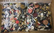 New ListingLot of Vintage Sewing Buttons Various Sizes Shapes Materials & Colors 2+ Pounds
