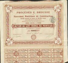 Procédés E. BROUSSE, Matériaux de construction (W)
