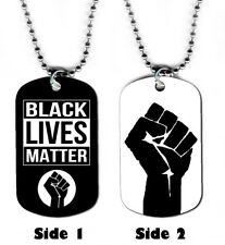 DOG TAG NECKLACE - Black Lives Matter #1 Birthday Gift activism equality jewelry