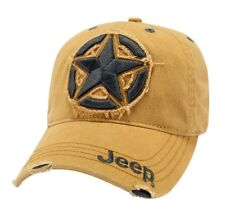 2d972dc9 LICENSED NEW JEEP 3D STAR EMBROIDERED WILLYS WRANGLER RUBICON CHEROKEE HAT  CAP