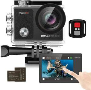 Touch Screen Action Kamera, 4k 16mp Unterwasser 100ft wasserdicht 2 BATTERIE ACC