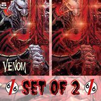 🚨🔥🕸 VENOM #32 SET OF 2 JONBOY MEYERS Trade & Virgin Variant King In Black NM