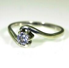 9ct 9k White Gold Tanzanite Solitaire Ring Size 7 1/4 - O