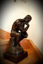 XXL Der Denker Echte Bronze Skulptur Figur Massiv über 19 Kg  schwer ♡