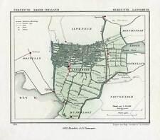 Antique Map-NETHERLANDS-TOWN PLAN-LANDSMEER-NOORD HOLLAND-Kuyper-Kuijper-1865
