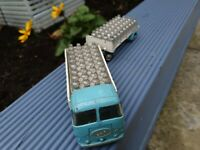VINTAGE : CORGI TOYS : NO. 457 - ERF MODEL 44G MILK LORRY AND PLATFORM TRAILER