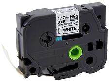 Brother HSe241 Shrink Tube 17.7mm Black/White - Fits PT-E300, PT-E500, PT-E550W
