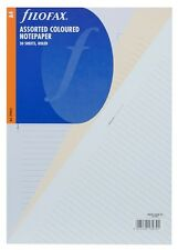 Filofax A4 Size 30 Sheets Assorted Coloured Ruled Notepaper Refill Insert 293054