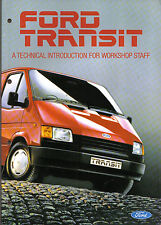 Ford Transit 1986 Original Technical Introduction for Workshop Staff No. CG557