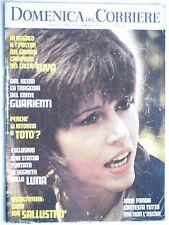 DOMENICA DEL CORRIERE   25 aprile  1972   N. 17 // JANE FONDA   poster GIGI RIVA