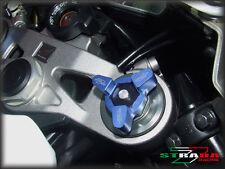 Strada 7 CNC Front Fork Preload Adjusters Suzuki GSX-R1000 SV1000 S B-King Blue