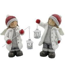 Zaer Ltd. International Set of 2 Angel Figurines with Lanterns ZR960461