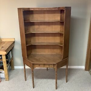 ETHAN ALLEN Solid Maple Corner Desk & Bookshelf Custom Room Plan CRP