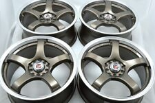 17 bronze Wheels Rims Corolla tC Mazda 3 5 6 Eclipse Avenger Civic 5x100 5x114.3
