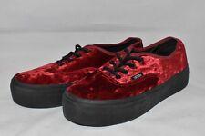 Velvet Red Lace Van Shoes Men 6 / Women 7.5 Black FREE PRIORITY SHIPPING! AIDW