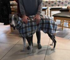 """dog Snood jumper fleece house coat whippet lurcher Grey tartan Brand new 30"""""""