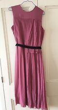 Victoria Victoria Beckham Pleated Midi Dress Size 8