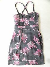 WILFRED BRAND ARITZIA WOMENS GRAY AND PINK FLORAL SUNDRESS SIZE 2 XS $165