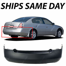 New Primered - Rear Bumper Cover For 2002-2006 Nissan Altima Sedan 4 Door