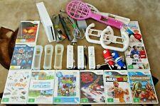 MASSIVE Nintendo Wii BUNDLE +10 GAMES +3 Controllers+ MORE