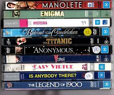 Lot of 10 DVDs Enigma Anonymous Hysteria Behind the Candelabra Michael Caine