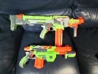Set of 2 Nerf Nitron Guns with Soft Bullets