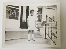 Cute Vintage African American Photograph Young Boy