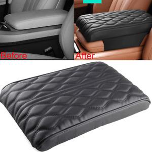 Car Armrest Pad Trim Cover Auto Center Console Box Leather Cushion Mat Universal