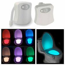 Light LED Toilet Seat Motion Sensor Commode Bowl Colour Changing Night Bathroom