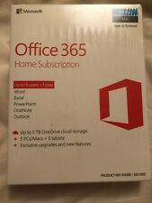 Microsoft Office 365 Home Premium, 5 PCs/Macs + Tablet New And Sealed