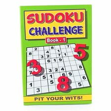 A5 Sudoku Challenge Books - Book 1 & 2 Each Includes 128 Pages Asst Puzzles