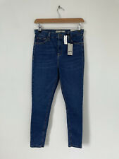 NEW Topshop Moto Jamie Blue Jeans High Waist Ankle Grazer W30 To Fit L32