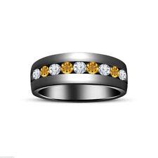 Citrine Wedding Band Fine Rings