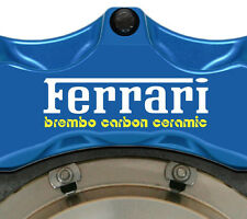 6 X Ferrari Brembo Carbon Ceramic Brake Caliper Decals Stickers Graphics Vinyl A