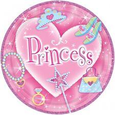 8 Prinzessin Pappteller zur Prinzessinparty