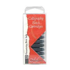 Manuscript Calligraphy 12 X Black Ink Cartridges