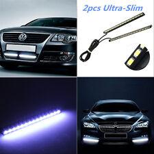2pcs White Ultra-Slim 15LED Light Strip Daytime Running Light Fog/Driving Lights
