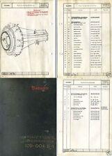 Junkers Jumo 004 Jet Engine Parts Service Manual Me 262 Horten Ho 229 WW2 RARE