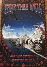 Grateful Dead Official poster Taylor Swope Santa Clara Chicago GD50 2015