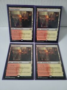 MTG: Magic the Gathering Sacred Foundry Guilds of Ravnica MINT # 254 lot of (4)