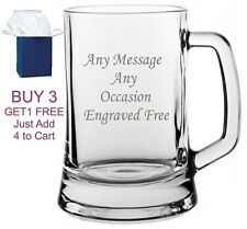 Personalised Engraved Beer Glass Tankard FREE Gift Engraving Any Occasion