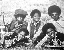 JACKSON FIVE clipping Marlon Tito Michael soul afros B&W photo Motown 1969