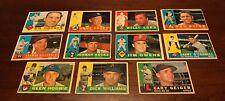 1960 Topps Baseball LOT (11) Killebrew - Hodges