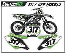 KAWASAKI KX KXF Motocross fondos número placas gráficos 85 125 250 450 500